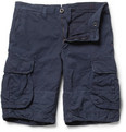 Incotex Incotex Cotton and Linen-Blend Cargo Shorts