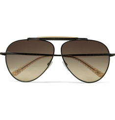 Bottega Veneta Metal Aviator Sunglasses