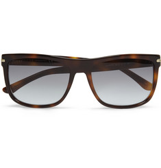 Gucci Rectangular-Frame Tortoiseshell Acetate Sunglasses