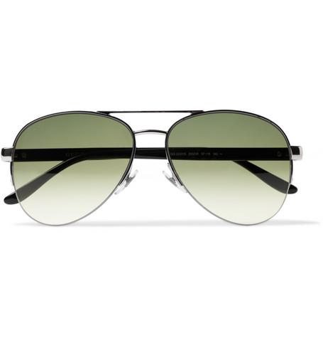 Gucci Polarised Metal Aviator Sunglasses
