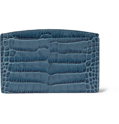 Smythson Crocodile-Embossed Card Holder