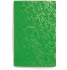Smythson Please Note Panama Leather Notebook