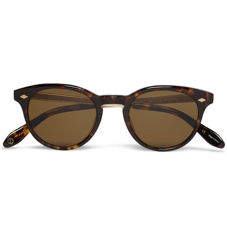 Garrett Leight California Optical Ashland Round-Frame Polarised Sunglasses