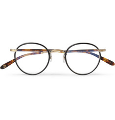Garrett Leight California Optical Wilson Tortoiseshell Acetate and Metal Optical Sunglasses