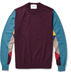 Undercover Panelled Cotton-Jersey Sweater