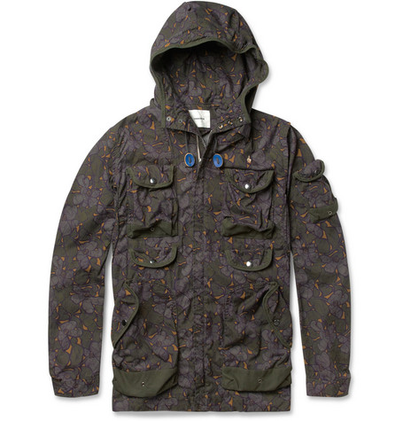 Undercover Hooded Printed Cotton Jacket