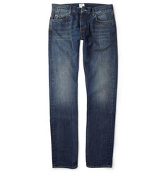 Jean.Machine J.M-2 Straight-Leg Washed-Denim Jeans