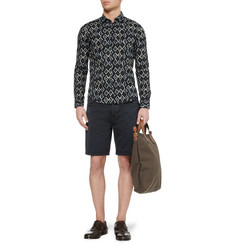 Sandro Slim-Fit Ikat-Print Cotton Shirt