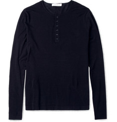 Sandro Knitted Cotton Henley T-Shirt