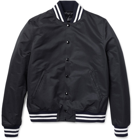 Sandro Slim-Fit Quilted Varsity Jacket