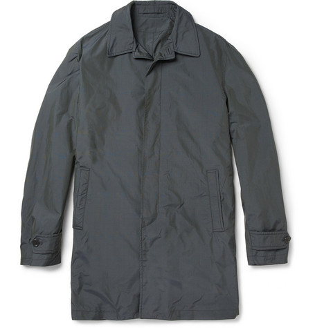 Alfred Dunhill Durham Prince of Wales Check Raincoat