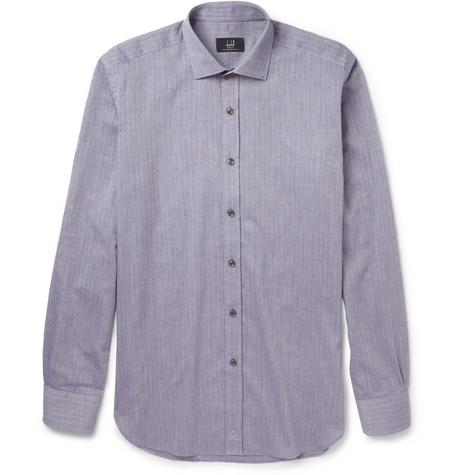 Dunhill Slim-Fit Cotton and Cashmere-Blend Shirt