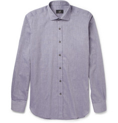 Alfred Dunhill Slim-Fit Cotton and Cashmere-Blend Shirt