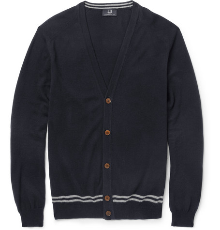 Alfred Dunhill Cotton and Cashmere-Blend Cardigan