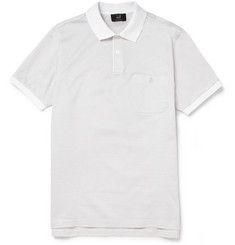 Alfred Dunhill Patterned Mercerised-Cotton Polo Shirt