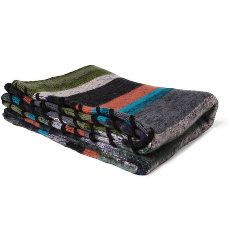 The Elder Statesman Whip Stitch Four Panel Cashmere Blanket