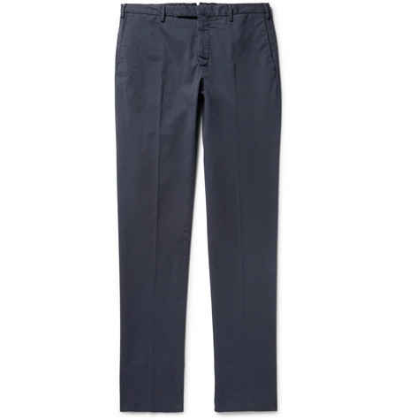 Four Season Slim-fit Cotton-blend Chinos - Blue