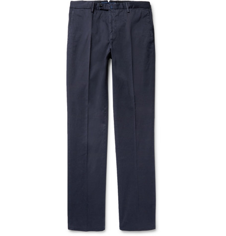 Four Season Relaxed-fit Cotton-blend Chinos - Blue