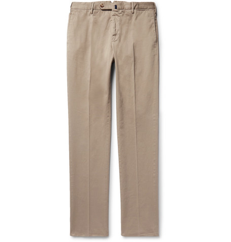 Four Season Relaxed-fit Cotton-blend Chinos - Mushroom
