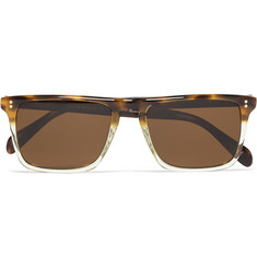 Oliver Peoples Bernardo Rectangular-Frame Polarised Sunglasses