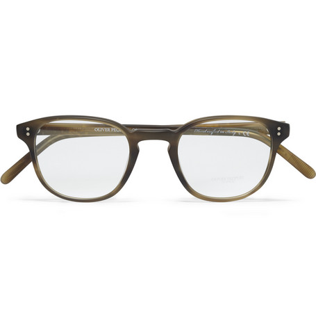 Oliver Peoples Fairmont Round-Frame Acetate Optical Glasses