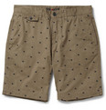 NN.07 Ace Dot Embroidered Cotton Chino Shorts