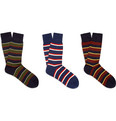 Beams Plus Three-Pack Striped Cotton Socks