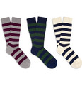Beams Plus - Three-Pack Striped Cotton Socks