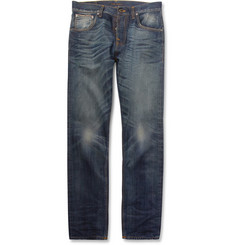 Nudie Jeans Sharp Bengt Straight-Leg Organic Selvedge Jeans
