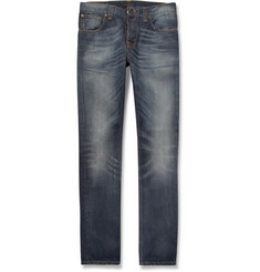 Nudie Jeans Grim Tim Slim-Fit Washed-Denim Jeans