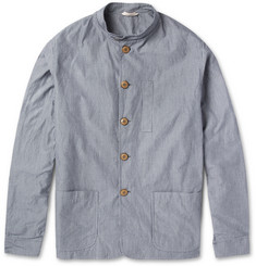 Oliver Spencer Camborne Slim-Fit Striped Cotton Jacket