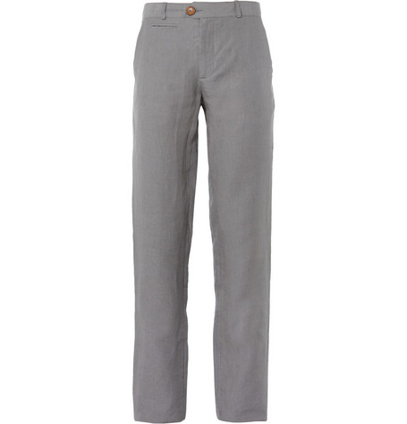 Oliver Spencer Grey Linen Suit Trousers