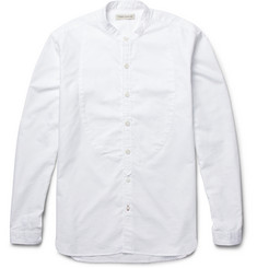 Oliver Spencer Cotton-Piqué Grandad-Collar Shirt
