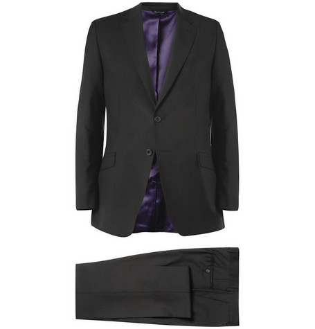 Paul Smith London Slim-Fit Black Byard Wool and Mohair-Blend Travel Suit