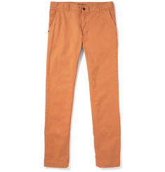 Faconnable Dean Straight-Leg Cotton-Blend Twill Trousers