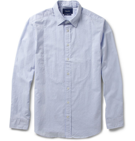 Faconnable Detachable-Collar Cotton Shirt