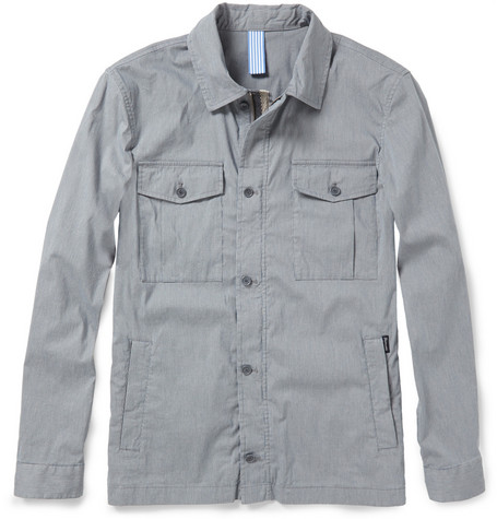 Faconnable Striped Cotton-Blend Field Jacket