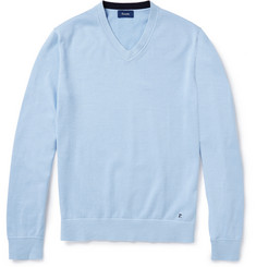 Faconnable Cotton-Jersey V-Neck Sweater