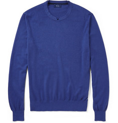 Faconnable Cotton, Silk And Cashmere-Blend Sweater