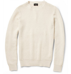 A.P.C. Knitted Mercerised Cotton Sweater