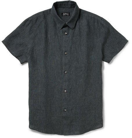 A.P.C. Short-Sleeved Linen Shirt