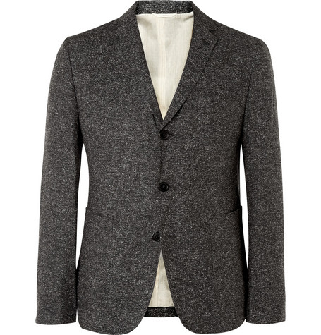 Billy Reid Walton Flecked Silk and Linen-Blend Blazer