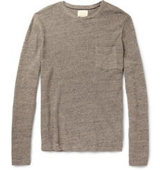 Billy Reid Phillip Cotton and Linen-Blend Sweater