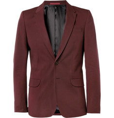 PS by Paul Smith Red Slim-Fit Cotton Suit Jacket