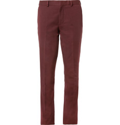 PS by Paul Smith Red Straight-Leg Cotton Suit Trousers