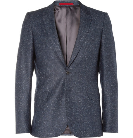 PS by Paul Smith Navy Flecked Wool-Blend Suit Jacket