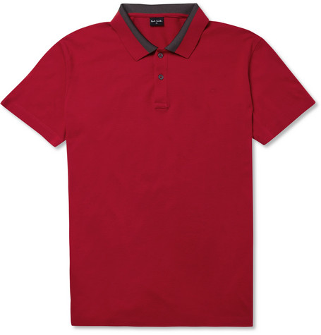 PS by Paul Smith Contrast-Collar Cotton-Piqué Polo Shirt