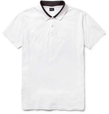 PS by Paul Smith Contrast Collar Cotton-Piqué Polo Shirt