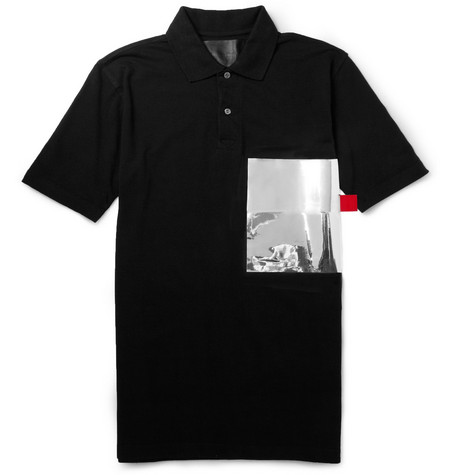 Matthew Miller Matthew Miller Foil-Pocket Cotton-Blend Piqué Polo Shirt