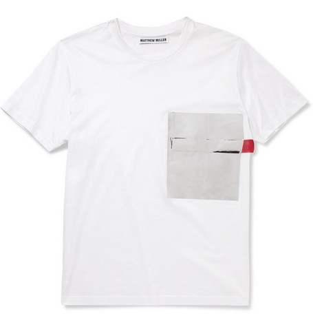 Matthew Miller Matthew Miller Foil-Pocket Cotton-Jersey T-Shirt